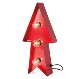 Marquee Lighted Metal Arrow – Red