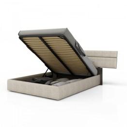 Plank Upholstered storage bed