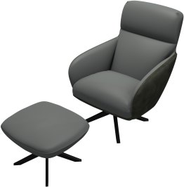 Christie Lounge Chair and Ottoman