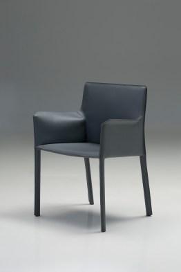 Fleur Arm Chair Caramel Full Leather Wrap