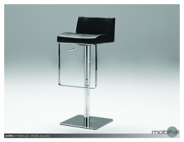 Kade Bench White Leatherette with Polished Stainless Steel