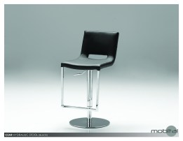 Octu Bar Stool Bamboo Wood Seat with Black Powder Coated Steel