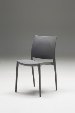 Totem  Dining Chair White Leatherette with Ash Wood Set of 2