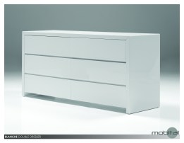Blanche Double Dresser High Gloss Stone