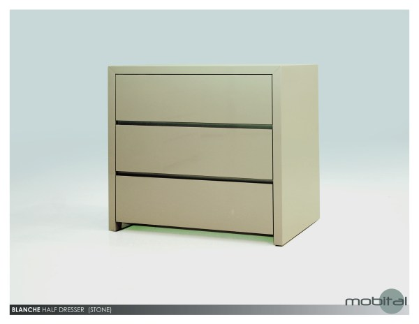 Savvy Double Dresser High Gloss White