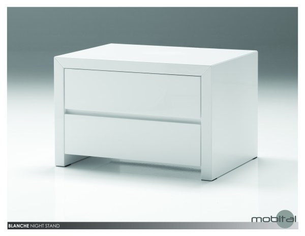 Blanche 3 Drawer Night Table High Gloss Stone