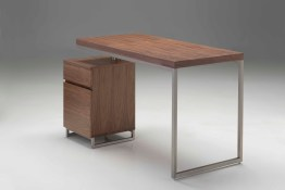 A-frame Desk Solid Elm Reclaimed Wood with Clear Glass and Steel Frame