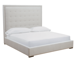 JACKIE BED – KING – SILVER LINEN FABRIC