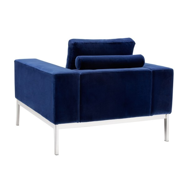 ADDER ARMCHAIR – GIOTTO NAVY FABRIC