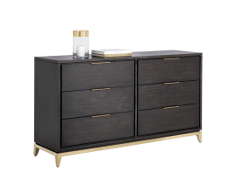 EDMUND DRESSER – BRUSHED BRASS – SMOKED GREY/BROWN