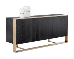 DALTON SIDEBOARD – ANTIQUE BRASS – BLACK