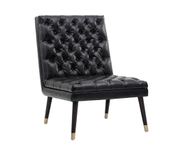 WAYNE CHAIR – BLACK FOG LEATHER
