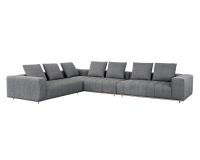 FLORA SECTIONAL – ANTIQUE BRASS – MILESTONE CHARCOAL FABRIC