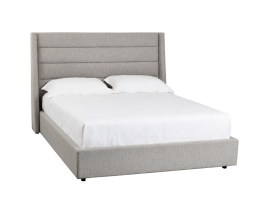 EMMIT BED – QUEEN – MARBLE FABRIC