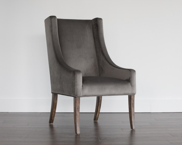 AIDEN DINING CHAIR – ACACIA – PIMLICO PEBBLE FABRIC