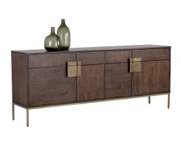 JADE SIDEBOARD – ANTIQUE BRASS – DARK MANGO