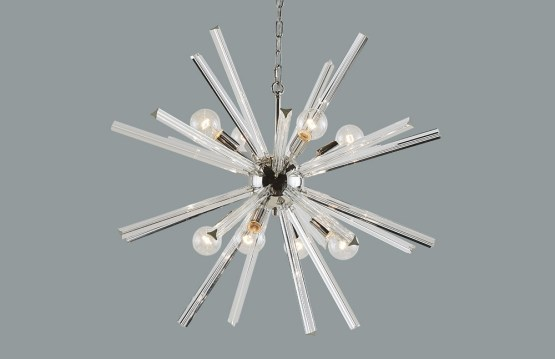 FARADAY – CHANDELIER – LARGE – CLEAR GLASS