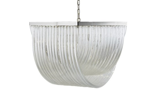 CURIE – CHANDELIER – LARGE – CLEAR GLASS