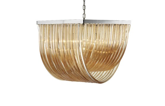 CURIE – CHANDELIER – LARGE – AMBER GLASS