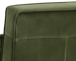 CALEDON SWIVEL CHAIR – ANTIQUE BRASS – GIOTTO OLIVE FABRIC