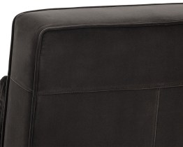 CALEDON SWIVEL CHAIR – ANTIQUE BRASS – GIOTTO SHALE GREY FABRIC