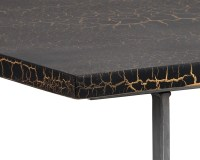 ALBION COFFEE TABLE – CONCRETE – BLACK AND GOLD CRACKLE
