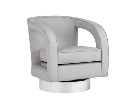 ANTONI SWIVEL CLUB CHAIR – ANTONIO CAMEO FABRIC