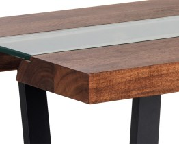 ALBANY COFFEE TABLE – GLASS/ACACIA WOOD
