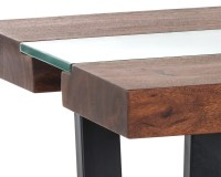 ALBANY END TABLE – GLASS/ACACIA WOOD