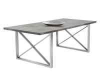 CATALAN DINING TABLE – CONCRETE – 82.5″