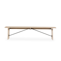 Valetta Dining Bench – Rustic Savannah