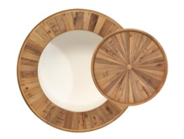 Casablanca Round Coffee Table With Tray