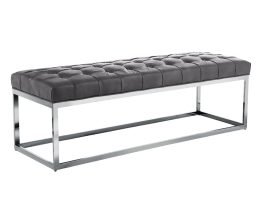 SUTTON BENCH – GREY LEATHER