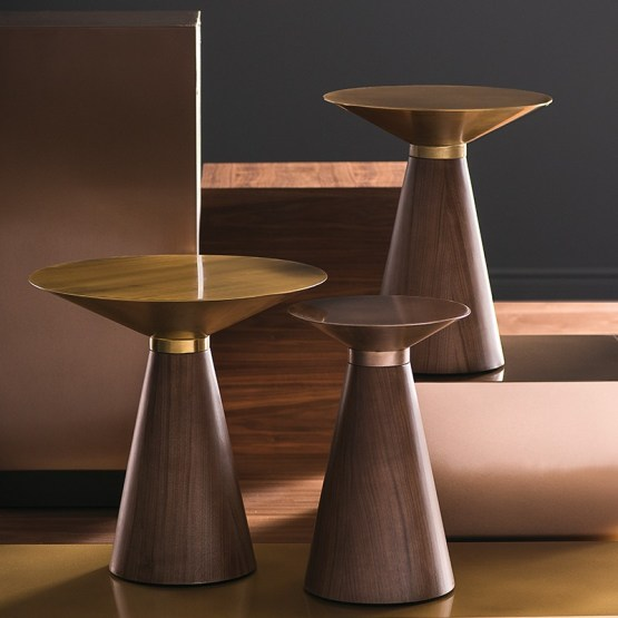 IRIS SIDE TABLE GOLD