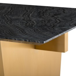AIDEN DINING TABLE BLACK WOOD VEIN