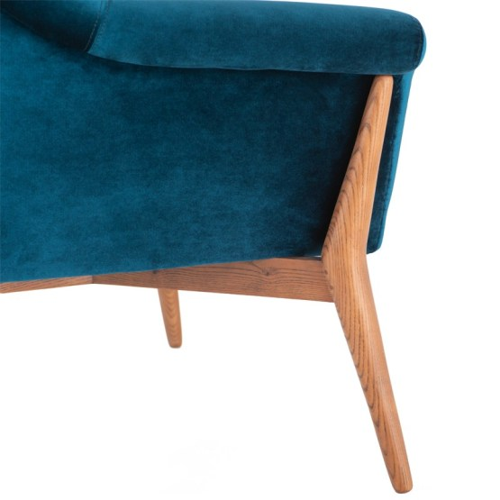 CHARLIZE OCCASIONAL CHAIR MIDNIGHT BLUE