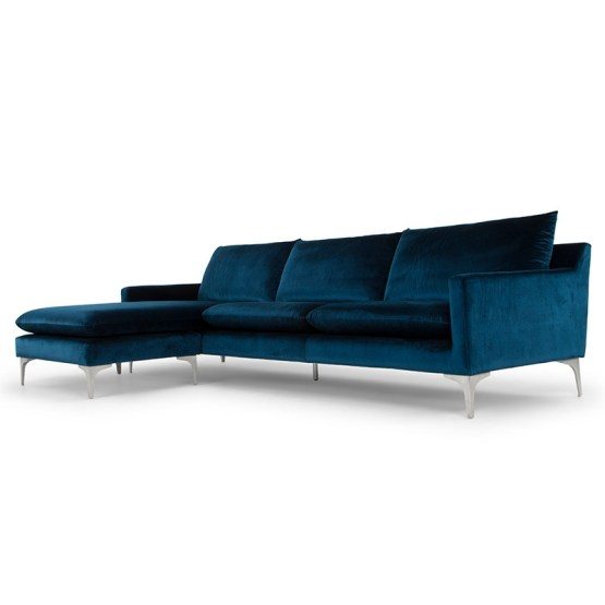 ANDERS SECTIONAL MIDNIGHT BLUE