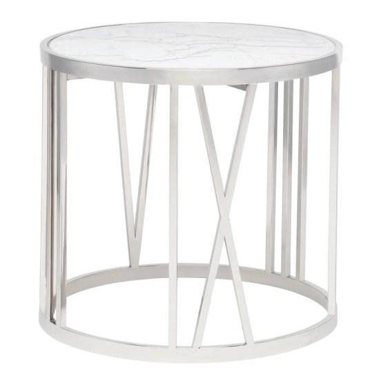ROMAN SIDE TABLE WHITE