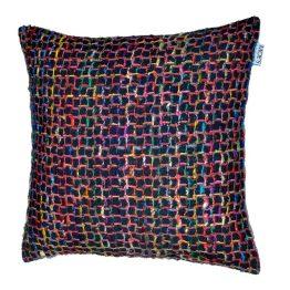 Chain Feather Cushion Black 25×25