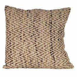 Chevron Feather Cushion Natural 25×25