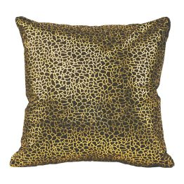 Daisy Pillow Black And Gold