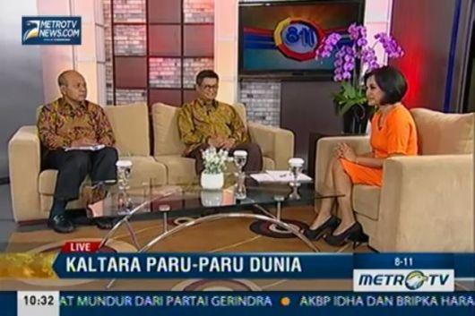 Pj Gubernur Kaltara bersama Sekprov saat tampil di Metro tv