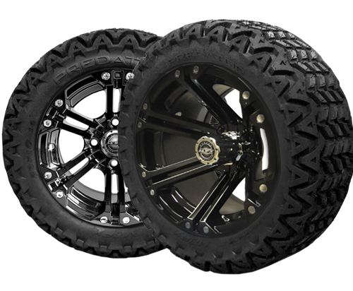 Golf Cart Wheels 14X7 Nitro Black- $619.00