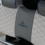 E-Z-GO RXV Seat detail - Silver with blue top
