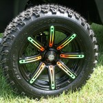 E-Z-GO RXV Front Wheel Detail - Beach golf cart