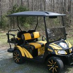 E-Z-GO RXV - Steelers-inspired golf cart