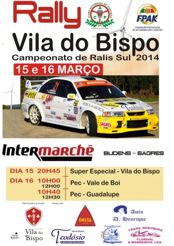 Cartaz - Rali Vila do Bispo