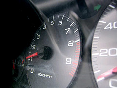 Speedometer Covered In Smoke