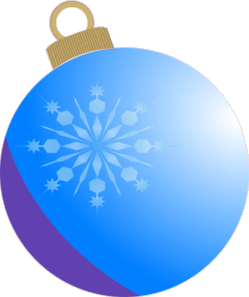 Snowflake reflected on ornamnet