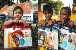 SM Stationery donates school supplies to ChildHope and Caritas children